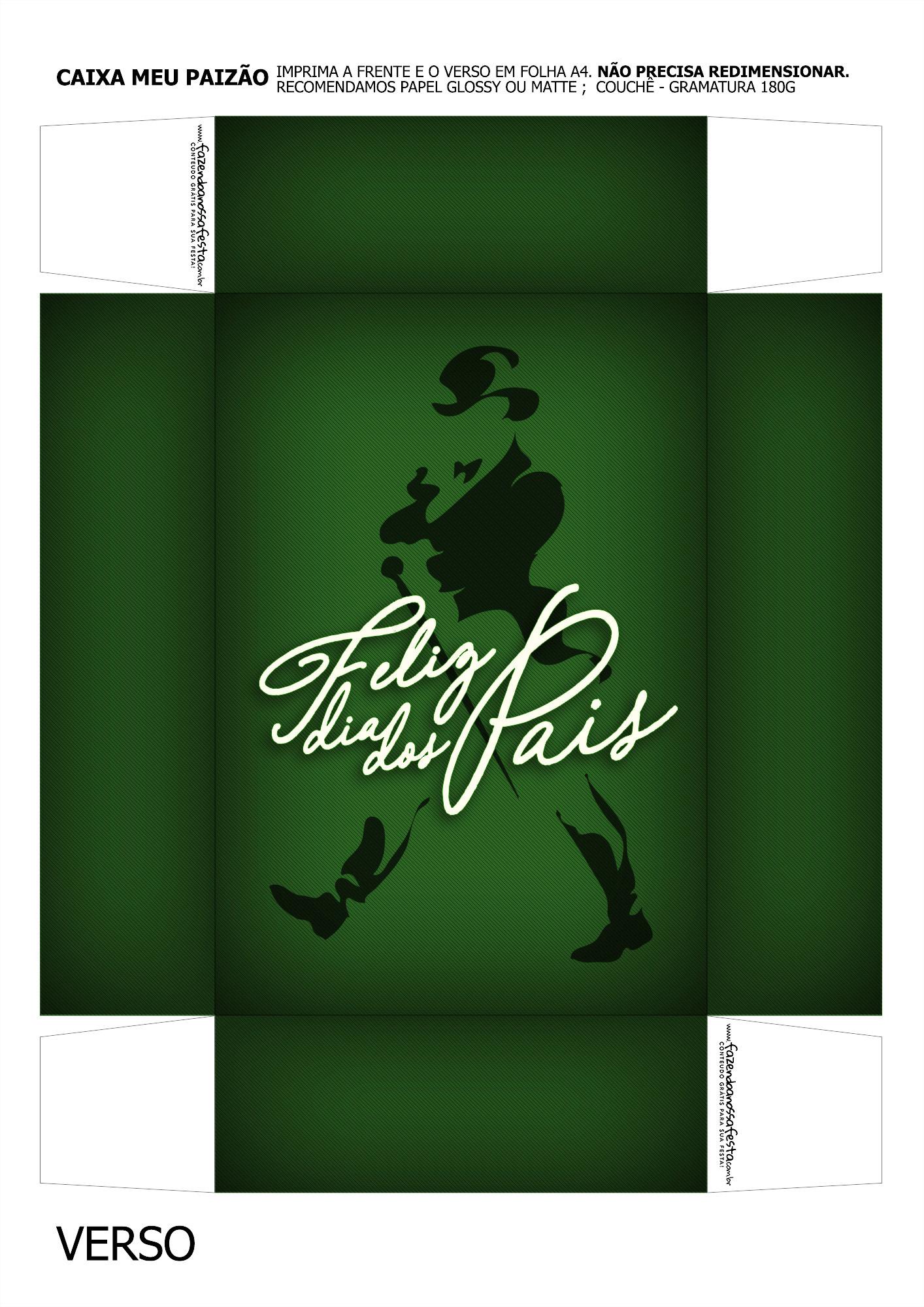 Caixa Mini Whisky para Dia dos Pais Verde