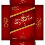 Caixa Mini Whisky para Dia dos Pais Vermelho Frente