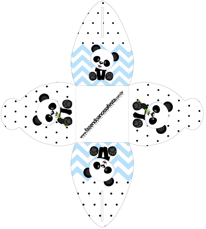 Caixa Panda Azul
