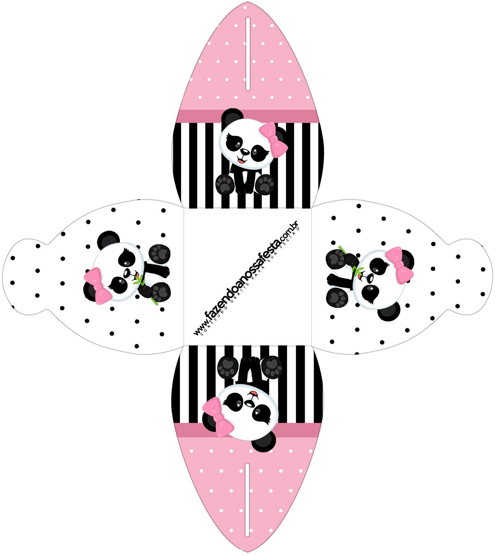 Caixa Panda Rosa