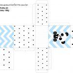 Caixa Tubete Panda Azul