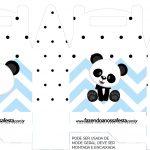 Caixa bombom Panda Azul