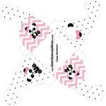 Caixa bombom pequeno Panda Rosa Menina