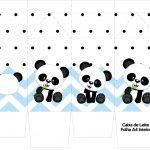 Caixa de leite Panda Azul