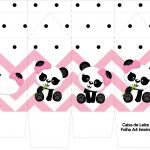 Caixa de leite Panda Rosa Menina