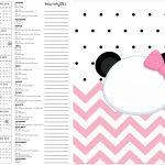 Calendario 2017 2 Panda Rosa Menina
