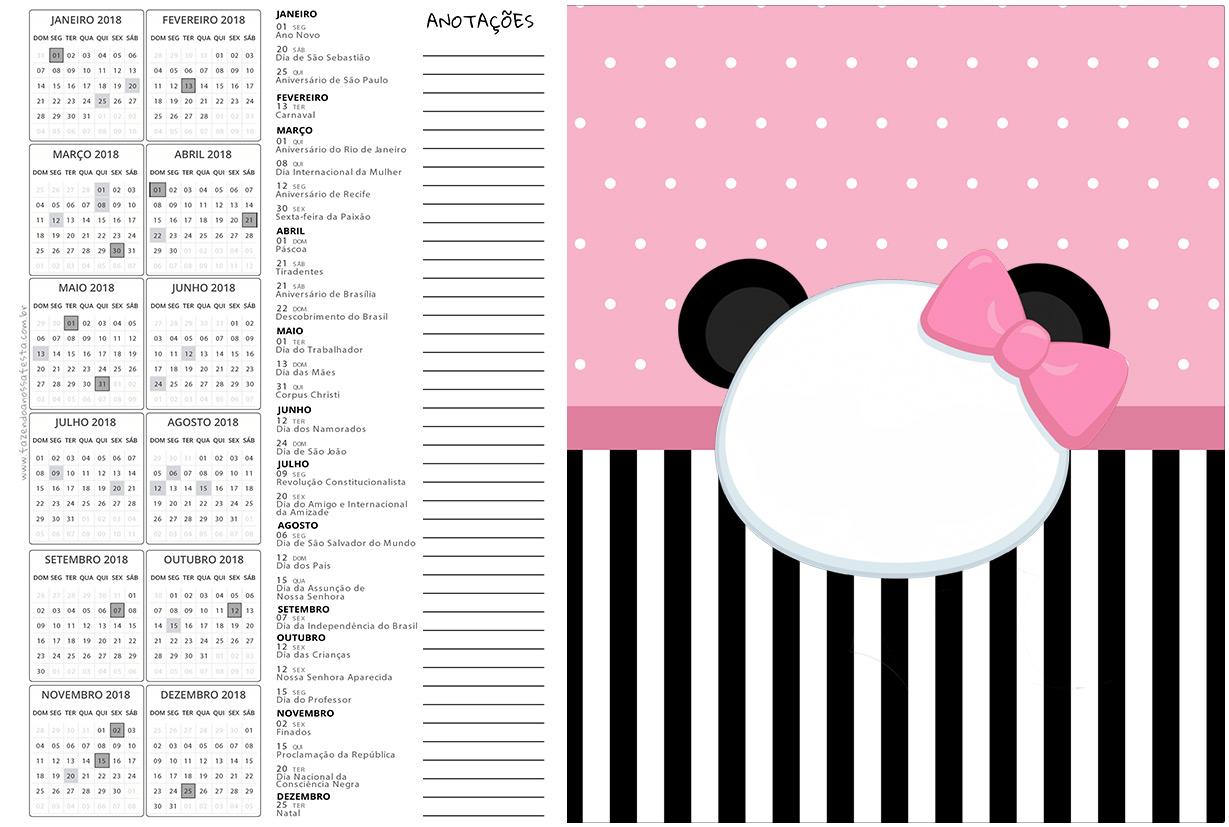 Calendario 2017 2 Panda Rosa