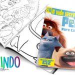 Livrinho para Colorir Pets a Vida Secreta dos Bichos Grátis