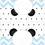 Cartao Agradecimento de mesa Panda Azul