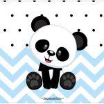 Cartao Panda Azul