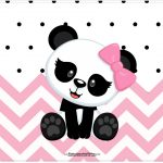 Cartao Panda Rosa Menina