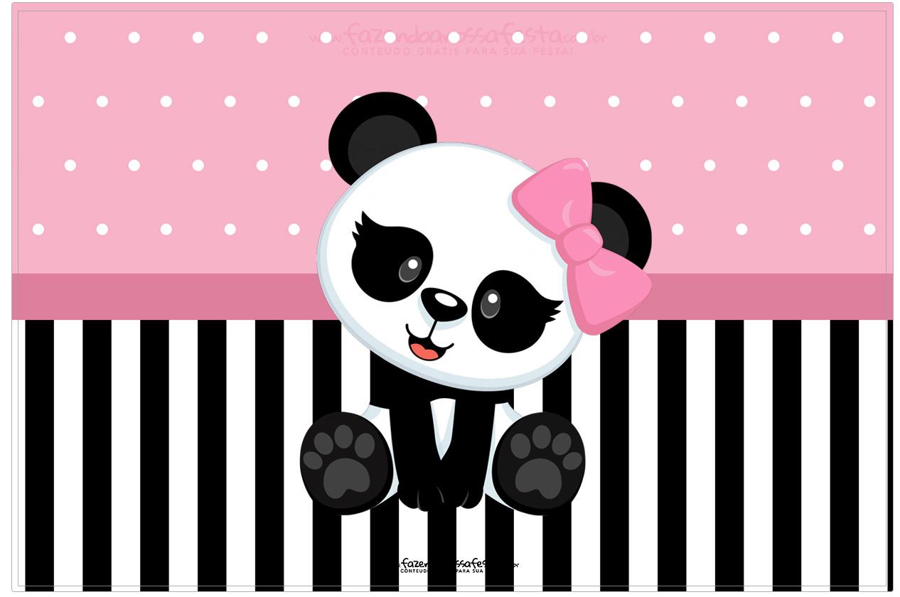 Cartao Panda Rosa