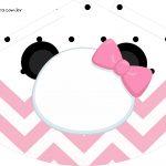 Chapeuzinho de Festa Panda Rosa Menina