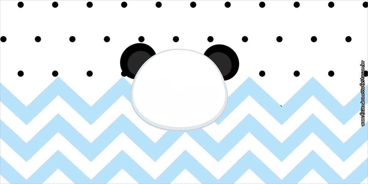 Cofrinho Panda Azul