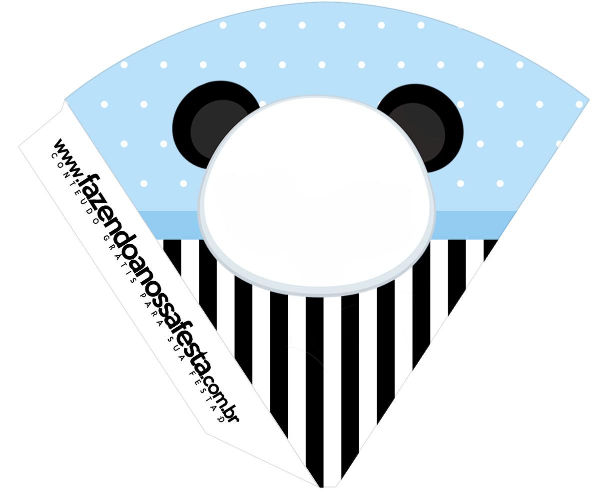 Cone Guloseimas Panda Azul Menino