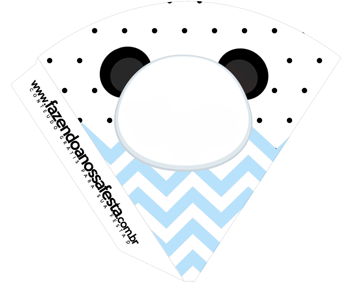 Cone Guloseimas Panda Azul
