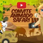 Convite Animado Virtual Safari Grátis para baixar e editar