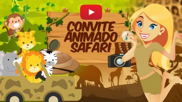 Convite Animado Virtual Safari
