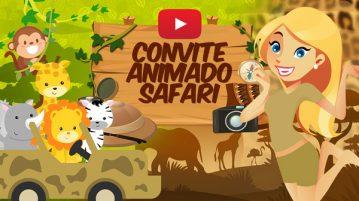 Convite Animado Virtual Safari