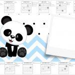 Convite Calendario 2017 Panda AzulConvite Calendario 2017 Panda Azul