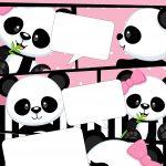 Convite Gibi Panda Rosa