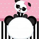 Convite Panda Rosa