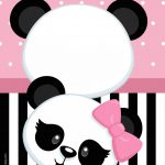 Convite Panda Rosa 2