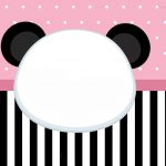 Convite Panda Rosa 3
