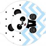 Enfeite Canudinho Panda Azul