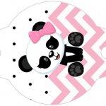 Enfeite Canudinho Panda Rosa Menina