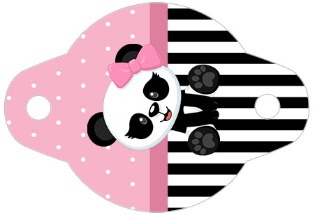 Enfeite Canudinho Panda Rosa