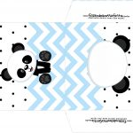 Envelope CD DVD Panda Azul