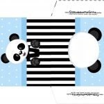 Envelope CD DVD Panda Azul Menino