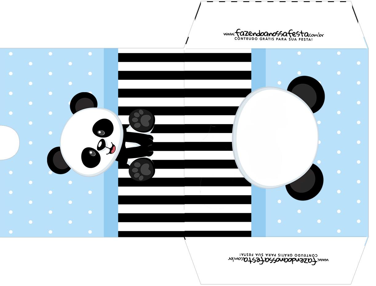 Envelope CD DVD Panda Azul Menino