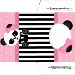 Envelope CD DVD Panda Rosa