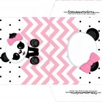 Envelope CD DVD Panda Rosa Menina
