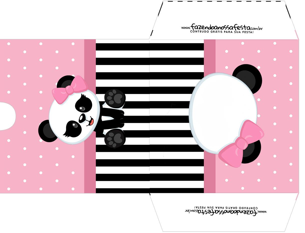 Envelope CD DVD Panda Rosa