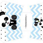 Envelope Fritas Panda Azul