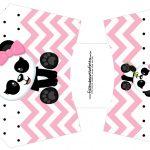 Envelope Fritas Panda Rosa Menina