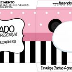 Envelope do Cartao Agradecimento Panda Rosa