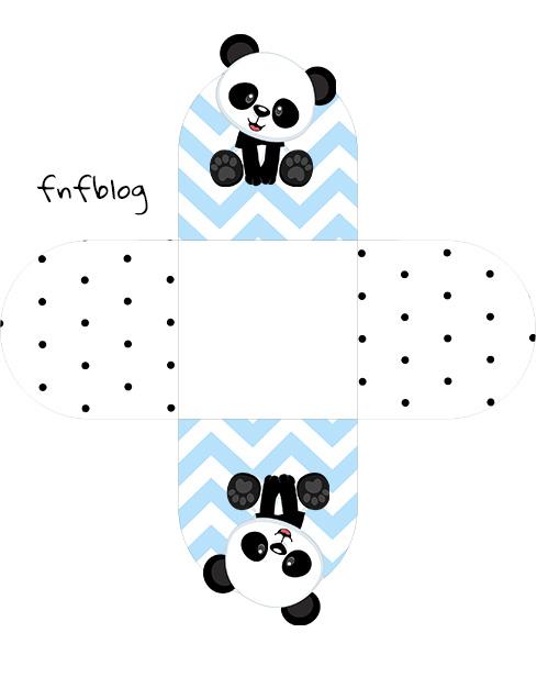 Forminha Docinho 3D Panda Azul