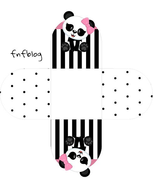 Forminha Docinho 3D Panda Rosa