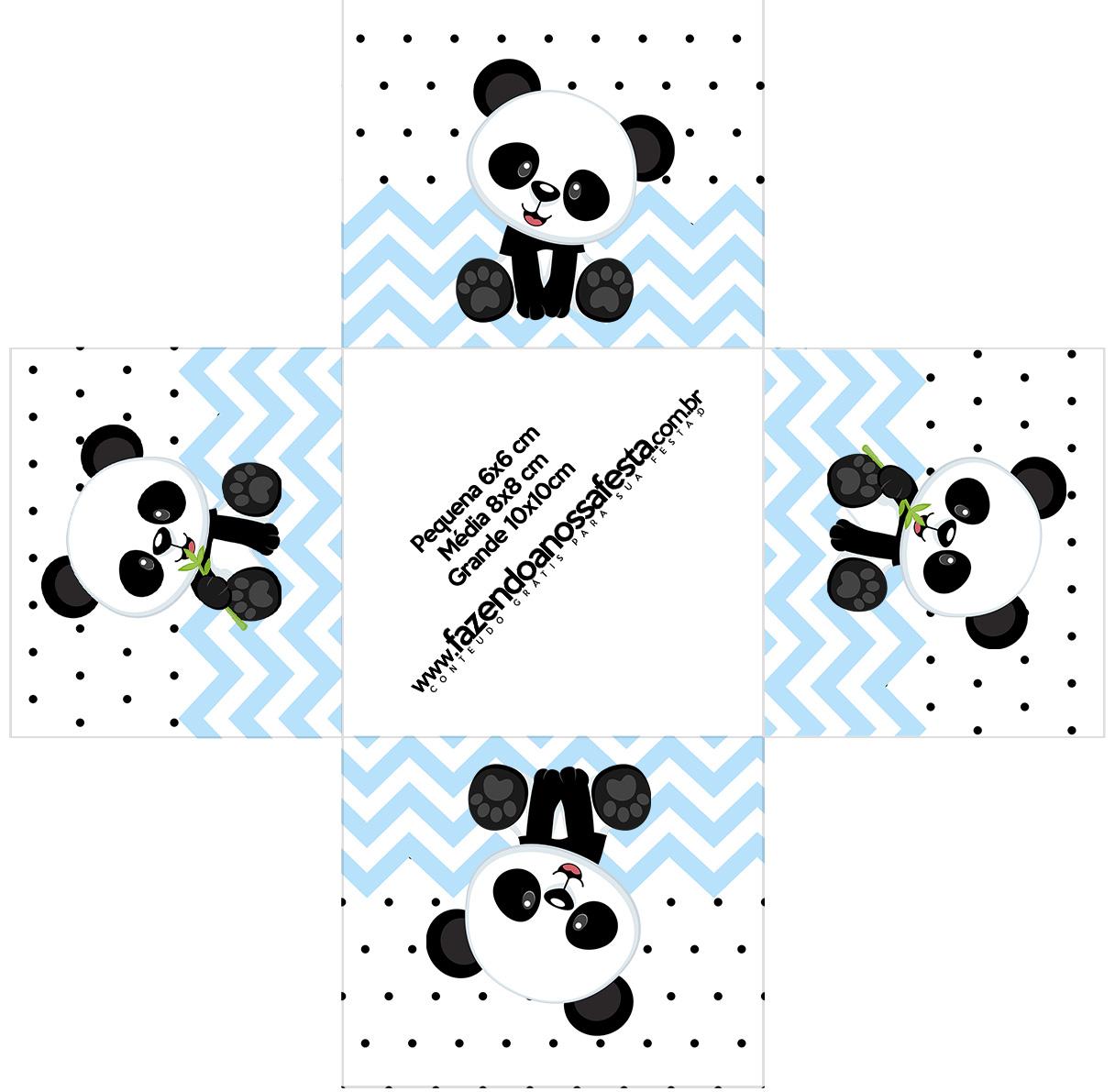 Forminha docinho quadrada Panda Azul