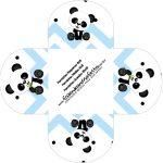 Forminhas Docinhos Panda Azul
