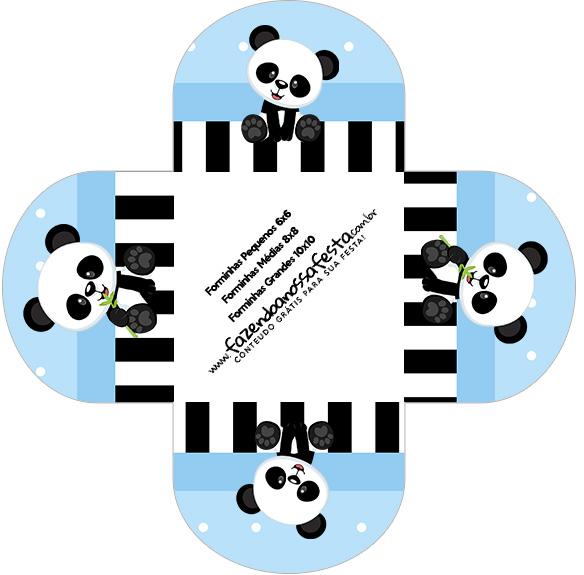 Forminhas Docinhos Panda Azul Menino