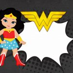 Invitation wonder woman cute