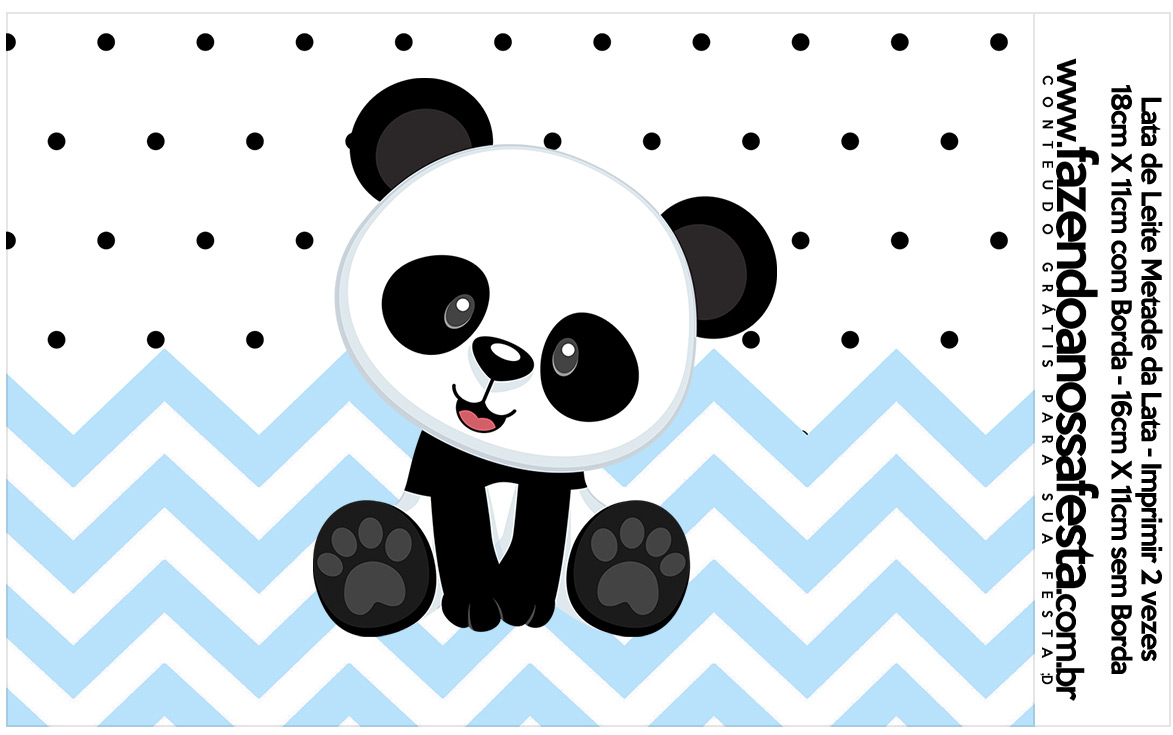 Lata de leite Panda Azul