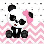 Lata de leite Panda Rosa Menina