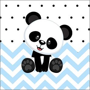 Molde Caixinha Acrilico Panda Azul