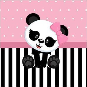 Molde Caixinha Acrilico Panda Rosa